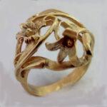 Ring Guld 585 Håndlavet Unika Organisk